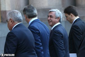 RA President Serzh Sargsyan holds a regular Government's session